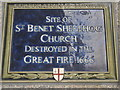Photo of St. Benet Sherehog, London blue plaque