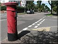 SZ1392 : West Southbourne: postbox № BH6 173, Castlemain Avenue by Chris Downer