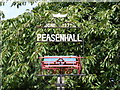 TM3569 : Peasenhall Village Sign by Adrian Cable