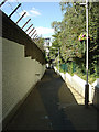Dist:0.1km<br/>The pedestrian ramp up from Caledonian Road. Considerable effort has been put into making this access attractive to passengers with fresh paint, new lighting and floral baskets.