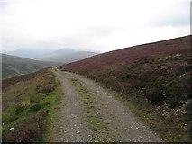 NN7573 : Estate road, Allt Glas Choire by Richard Webb