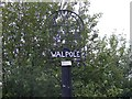 TM3674 : Walpole Village Sign by Adrian Cable