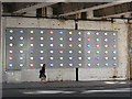 TQ3280 : Lights under the bridge, Southwark Street by Stephen Craven
