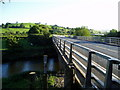 SO1594 : River Severn,Abermule bypass bridge by kevin skidmore