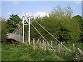 SO1897 : River Severn, Fron footbridge by kevin skidmore
