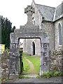 SX8477 : Gate, St Paul's Church, Chudleigh Knighton by Maigheach-gheal