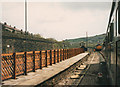 SE0411 : New fence at Marsden station by Stephen Craven