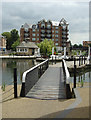 TQ1777 : Swingbridge at Brentford Gauging Locks by Alan Murray-Rust