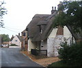 TL0873 : Cottages at Catworth, near the start of the lane to the church by Andrew Hill