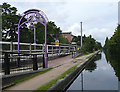 SP0581 : Station and canal at Bournville, Birmingham by Roger  Kidd