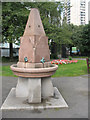 TQ3479 : Drinking fountain outside St James's church by Stephen Craven
