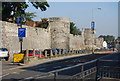 TR1557 : Canterbury city walls by N Chadwick