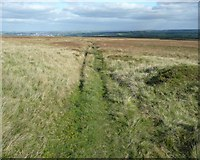 SE0021 : Bridleway at Slate Delfs Hill, Sowerby by Humphrey Bolton