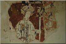 SP3220 : Medieval wall painting, Shorthampton Church by Philip Halling