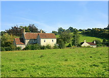 ST6657 : 2008 : Pasture and cottages near Paulton by Maurice Pullin