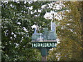 TM0533 : Dedham Village Sign by Adrian Cable