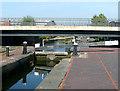 SP0788 : Lock No 18 and Waterlinks Bridge, Aston by Roger  Kidd