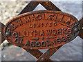 NN8340 : Maker's Plate on the Tirchardie Bridge by Dr Richard Murray