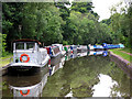 SK0616 : Canal moorings at Armitage, Staffordshire by Roger  Kidd