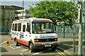 "J3474 : ""Seacat"" bus, Belfast by Albert Bridge"