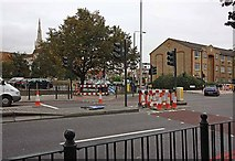 TQ3580 : Glamis Road from The Highway, London E1 by John Salmon