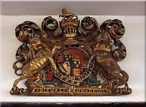 TQ3580 : St Paul's Church, The Highway, London E1 - Royal Arms by John Salmon
