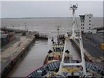 TA1916 : Leaving Immingham Docks by Hugh Venables