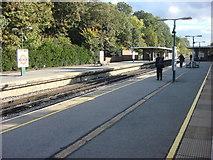 TQ0893 : Moor Park tube station, platforms by Oxyman