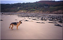 SH2428 : Hell's Mouth beach near Siop Penyrallt by Peter Bond