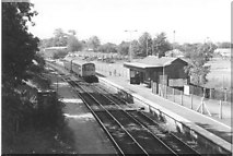 SJ9588 : Rose Hill (Marple) station by Peter Whatley