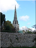 SU8504 : Chichester Cathedral and Roman Wall by John Lucas