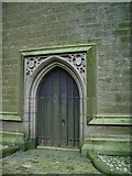 SD9828 : The Parish Church of Heptonstall, St Thomas a Becket & St Thomas the Apostle, Doorway by Alexander P Kapp