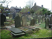 SD9828 : The Parish Church of Heptonstall, St Thomas a Becket & St Thomas the Apostle, Graveyard by Alexander P Kapp