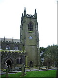 SD9828 : The Parish Church of Heptonstall, St Thomas a Becket & St Thomas the Apostle, Tower by Alexander P Kapp