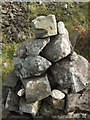 NS4376 : A modern cairn on the Long Crags by Lairich Rig