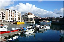 SY6778 : Weymouth Town Bridge by Nigel Mykura