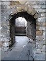 NZ2563 : Passageway through castle walls by Mike Quinn