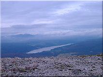 NN7958 : Loch Tummel from Schiehallion (1085m) by Adele