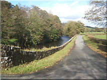 SN0717 : Lane near Llawhaden bridge by Andrew Hill