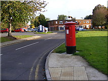TM2850 : The Street Postbox on corner of the B1438 The Street by Adrian Cable
