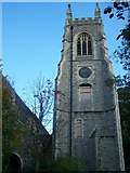 TQ7568 : St Mary's Church Clock Tower, Chatham by David Anstiss