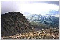 SH7013 : Cyfrwy from the Cadair Idris summit ridge by Peter S