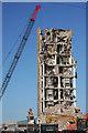 TM0462 : Haughley silo demolition by Bob Jones