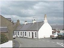 SH3568 : Terraced cottages in Stryd yr Eglwys (Church Street), Aberffraw by Eric Jones