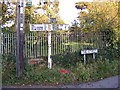 TM2556 : Old Roadsign on The Street, Charsfield by Geographer