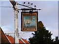TM2858 : White Horse Public House Sign by Adrian Cable