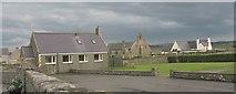 SH3568 : The former Church Hall, St Beuno's Church and Ysgol Gynradd Aberffraw School by Eric Jones