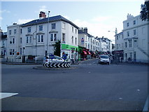 TQ3005 : Roundabout at Seven Dials by Peter Holmes