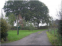 SJ8504 : Entrance to Nursery Farm by Row17