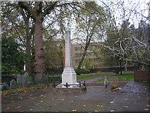 TQ3282 : Daniel Defoe Memorial, Bunhill Fields by Dr Neil Clifton